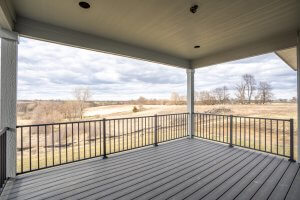 A picture of a balcony on a home built by Kruse Development.